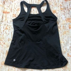 Lululemon athletic tank top Sz 8 black